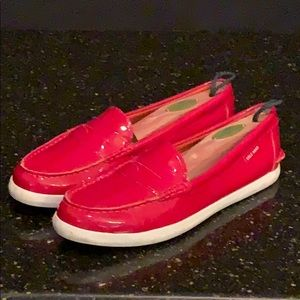 Cole Haan Grand O. S. Pinch Red Patent Loafers